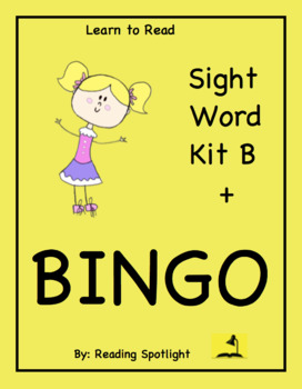 The BEST Sight Word Kit B + BINGO  (LTR)