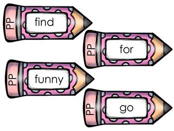 Sight Word Kit--Pencil Theme