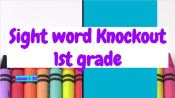 Sight Word Knockout (1st grade)
