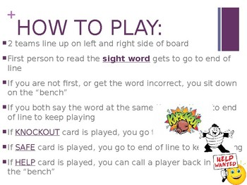 Sight Word Knockout