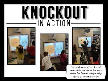 Sight Word Game | Knockout | Dolch Nouns | Distance Learning