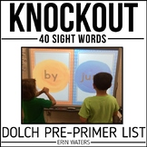 Sight Word Knockout {Dolch Pre-Primer}