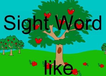 Sight Word LIKE SMARTBOARD lesson