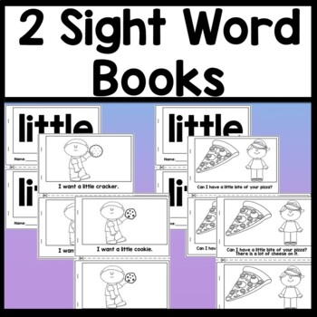 Sight Word LITTLE {2 Sight Word Books and 4 Worksheets!}