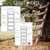 Sight Word Ladder Grade 2 NO Prep Worksheets