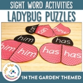 Sight Word Lady Bug Puzzles