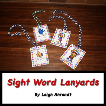 Sight Word Lanyards