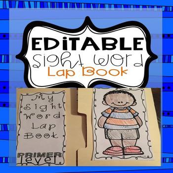 Sight Word Lap Book Editable