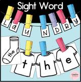 Sight Word Laundry Literacy Center for Kindergarten