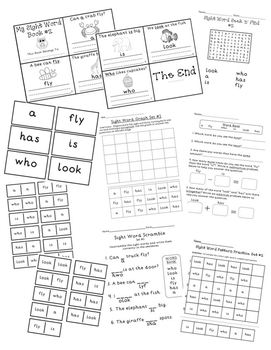 Sight Word Activity Set #2 *5 days of activities* BOB Books