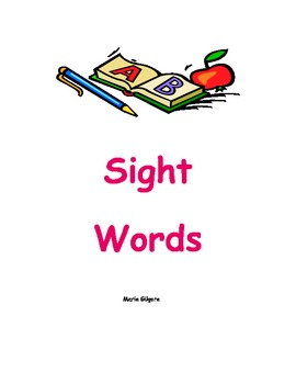 Sight Word Lesson Plan