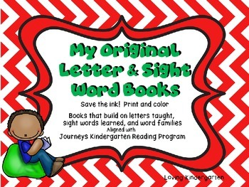 Sight Word Letter Books