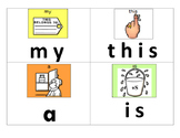 Sight Word Letter Match with Fine Motor Practice