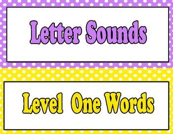 Sight Word Level Chart