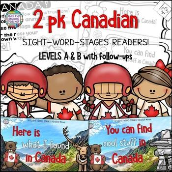 Sight Word Leveled Readers Sentence Puzzles and Activities: Canada