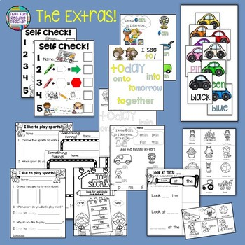 Sight Word Leveled Readers, Sentence Puzzles and Activities Level A 5 pack!