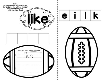 Sight Word Lift the Flap Activities