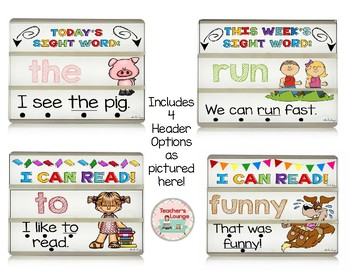 Sight Word Light box Slides and Interactive Activities: Pre-Primer