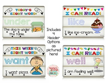 Sight Word Light box Slides and Interactive Activities: Primer