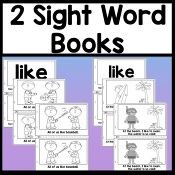 Sight Word LIKE Mini Bundle {4 Worksheets and 2 Sight Word Books!}