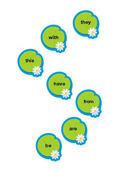 Sight Word Lily Pad Jump