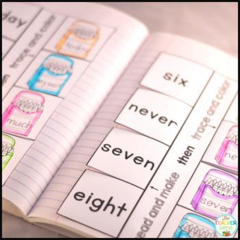 Sight Word Interactive Notebook Bundle: Third Grade List