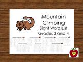 Sight Word List (Mountain Climbing)