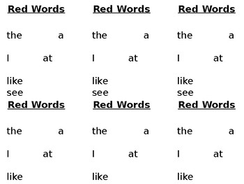 Sight Word List and Tracker for LLI reading system