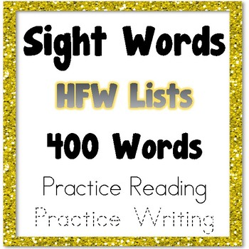 Sight Word Lists - 400 Sight Words