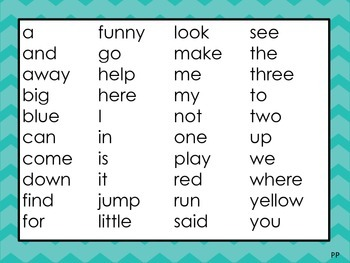 sight word lists for pre primer primer 1st 2nd 3rd 4th 5th grade