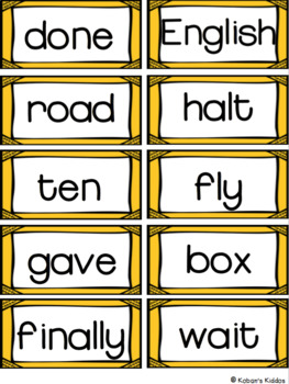 Fry Sight Word Lists, Flash Cards and Progress Monitoring Set (Fifth 100 Words)