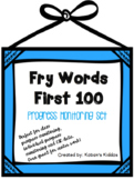 Fry Sight Word Lists, Flash Cards and Progress Monitoring Set (First 100 Words!)