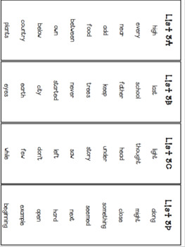 Fry Sight Word Lists, Flash Cards and Progress Monitoring Set (Third 100 Words)