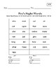 Sight Word Lists for Fluency Practice!