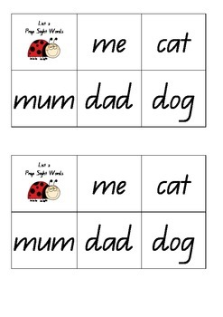Sight Word Lists
