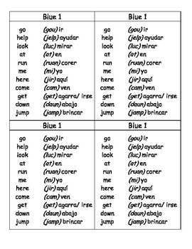 Sight Word Lists in English and Spanish