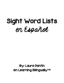 Sight Word Lists in Spanish