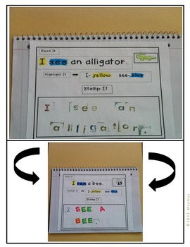 Sight Word Literacy Center Read It Highlight It Stamp It Ring It