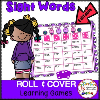 Sight Word Literacy Games – Colorful Bunnies Roll & Cover!