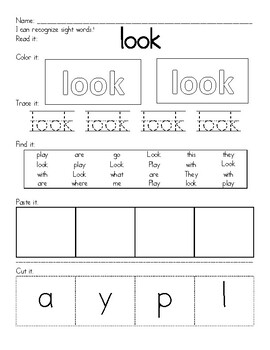Sight Word- Look