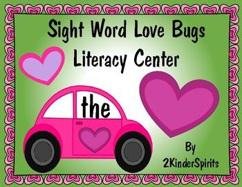 Sight Word Love Bugs Literacy Center