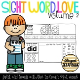Sight Word Love Volume 2 {Sight Word Practice Pages}
