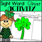 Sight Word Lucky Clover Literacy Center for Kindergarten f