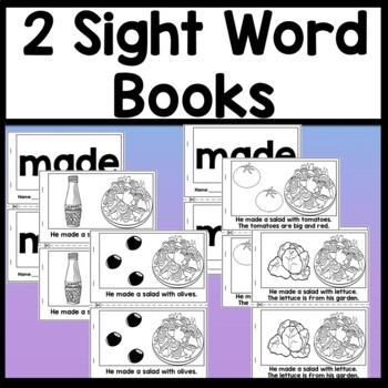 Sight Word MADE {2 Sight Word Books and 4 Worksheets!}