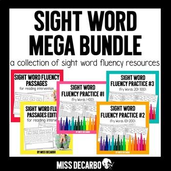 Sight Word Fluency MEGA BUNDLE