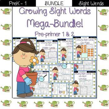Sight Word- MEGA BUNDLE! Pre-Primer