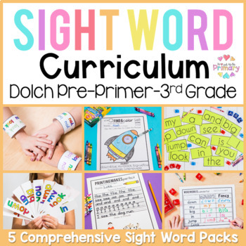 Dolch Sight Words Curriculum BUNDLE