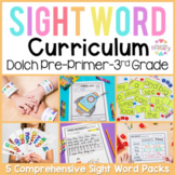 Dolch Sight Words Curriculum | Pre-primer, Primer, First, Second, Third Grade