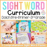 Dolch Sight Words Program BUNDLE (pre-primer, primer, firs