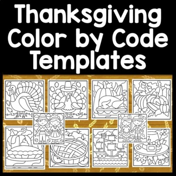Thanksgiving Color by Sight Word and Thanksgiving Sight Word Coloring {8 Pages!}